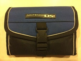 Original Nintendo DS Carrying Travel Case Blue & Black - $5.86