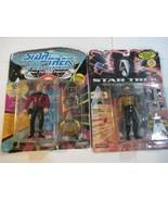 1994 Playmates Star Trek Generations Captain Jean-Luc Picard & Geordi La... - $15.83
