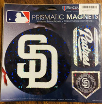 "San Diego Padres MLB Prismatic Magnet Sheet Hologram 11x11"" 3 Auto RV Car - $15.74"