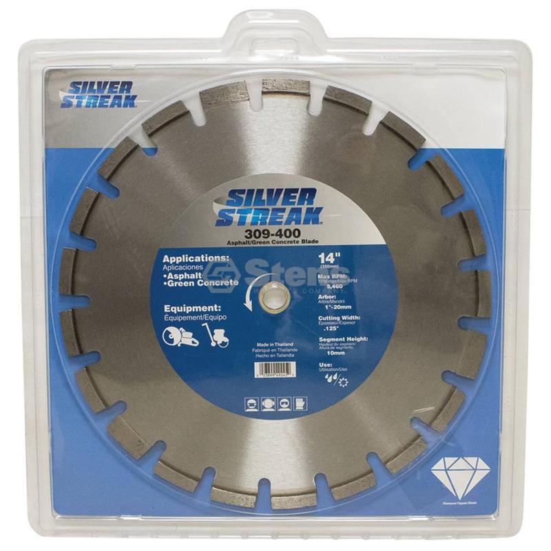 Stens 309-400 Silver Streak Asphalt/Green Concrete Blade Diamond Cut-Off Saw