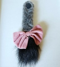 """Disney Eeyore Plush Tail w/ Bow 11.5"""" Attachable Hook and Loop Winnie Th... - $12.59"""