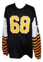 Angelo Mosca #68 Hamilton Tiger-Cats CFL New Men Football Jersey Black Any Size image 2