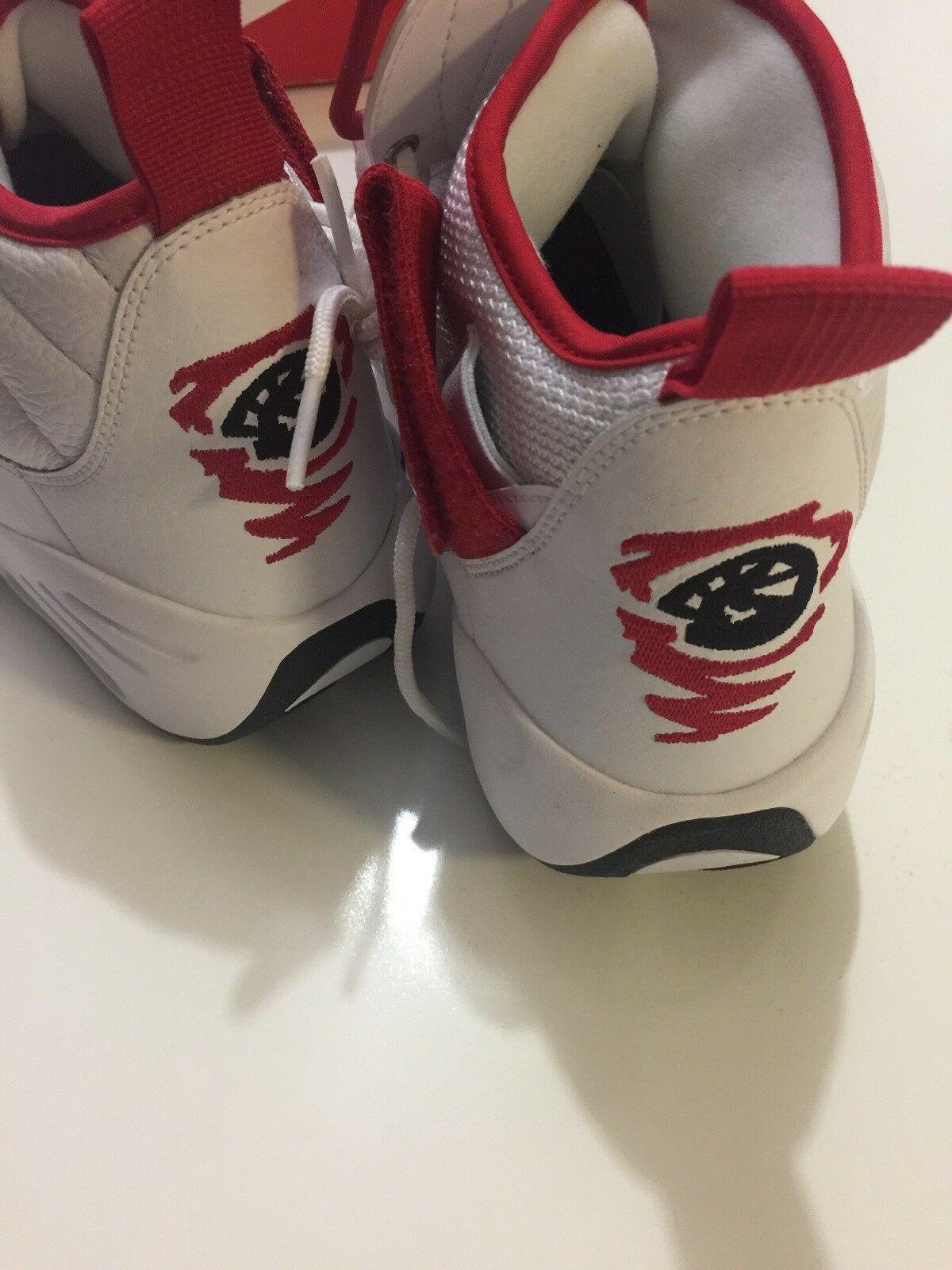 Nike Air Shake Ndestrukt Men's Basketball Shoes White/Red 880869 100 Size 11 image 8