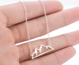 Origami Snow Mountain Necklaces & Pendants Mountain Range Pendant Necklace - $9.99