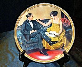 Flirting in The Parlor by Norman Rockwell Plate with Box ( Knowles ) AA20-CP2171 image 5