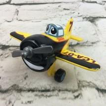 Tonka Airplane LCA-07 Black White Cartoon Eyes Toy Plastic - $11.88