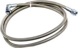 """60"""" Steel Braided Turbo Oil Feed Line -4AN 90 Degree & Straight End Teflon Core image 3"""