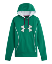 NEW UNDER ARMOUR WOMEN'S PREMIUM STORM CALIBER SPORT GYM WORK OUT HOODIE GREEN image 1