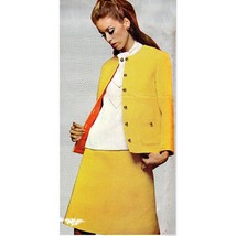 Misses Sportswear Pattern McCalls 8700 Vintage Anne Klein 1967 Size 14 c649 - $13.99