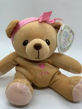 "Cherished Teddies Plush AVA 7"" Brown Teddy Bear with Pink Bow Stuffed To... - $11.88"