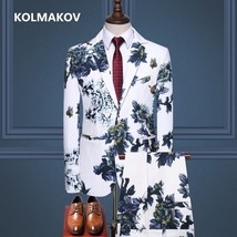 (Jacket + trousers)2019 New style wedding Flower color suit men,blazer m... - $73.90