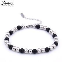 ZUUZ beads bracelet stainless steel Jewelry accessories charm chain link for wom - $13.20