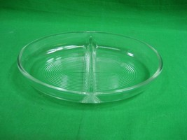 Vintage Glasbake Divided Baking Dish ~ Clear ~ Oval ~ 558 ~ Mid Century ... - $15.85