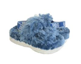 UGG FLUFF SUGAR BLUE SLIDE SLIP ON STRAPPY SANDAL US 8 / EU 39 / UK 6 - $107.53