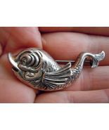 FISH Vintage Sterling Silver Brooch Pin - BEAU STERLING - 1 3/4 inches wide - $45.00