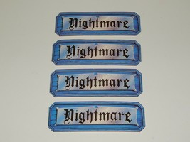 Nightmare Video Board Game 1991 Nightmare Cards Set of 4 - $11.41
