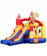 RETRO JUMP Inflatable Bounce House with Slide Castle Windmill Playhouse ... - $317.25