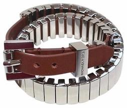 Michael Kors JetSet Heritage Silver-Tone Double Wrap Bracelet BNWT $195 - £53.93 GBP