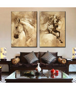 Art Oil Painting 2 Pcs/Set modern Horse Picture No Frame - $60.99+