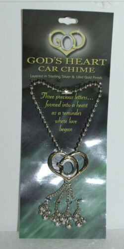 DM GH CHIME Gods Heart Car Chime Layered Sterling Silver Gold