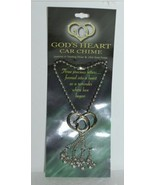 DM GH CHIME Gods Heart Car Chime Layered Sterling Silver Gold - $9.99