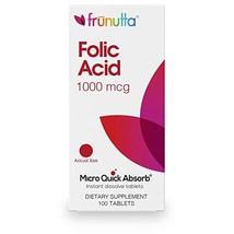 Frunutta Folic Acid 1000 mcg, Under The Tongue Instant Dissolve Tablets, 3 Month - $22.14