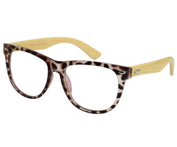 EBE Retro Style In Awesome Brown Cream Tortoise With Bamboo Temples - $34.18