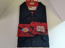 Dickies Short Sleeve Work Shirt Mens Size Large with Pockets Pencil Slot - €13,95 EUR