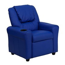 Flash Furniture DG-ULT-KID-BLUE-GG Kids Recliner Vinyl Blue (DG-ULT-KID-... - $119.38