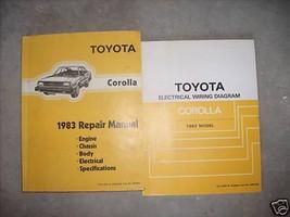 1983 TOYOTA COROLLA Workshop Service Repair Shop Manual Set OEM W EWD Book - $188.09