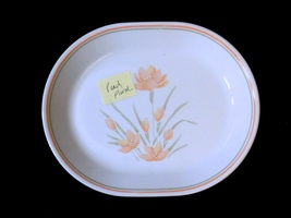 Corelle Platter PEACH FLORAL Oval Serving Platter 12 inch - $19.79