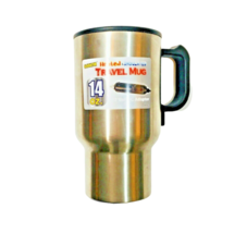 Gladiator Travel Mug 14 oz Heated Insulated Cup Cover 12V Power Adapter ... - $14.84