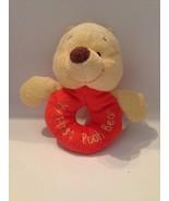WALT DISNEY My First Pooh Bear,Piglet, Eeyore Ring Soft Rattle Set Plush... - $17.77