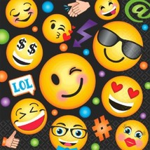 LOL Emoji 16 Lunch Napkins Birthday Party - $4.79