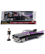 1959 Cadillac Coupe DeVille Black with Catwoman Diecast Figure DC Comics... - $48.85