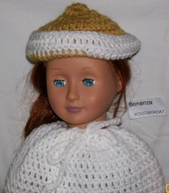 American Girl Gold and White Brim - $8.00