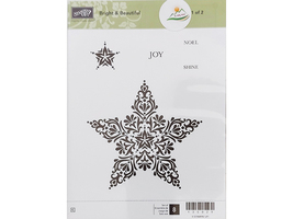 Stampin' Up! Bright and Beautiful Rubber Stamp Set 1 #135029
