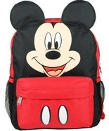 "Disney Mickey Ears Face Square 12"" inches BP - Licensed Red & Black - $21.28"