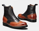 Men latest wing tip oxford real italian leather brogues boots   lederstiefel thumb155 crop