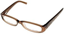 Marc Jacobs Eyeglasses Frame Women Brown Crystal Temples Rectangular MJ077 KMP  - $177.21