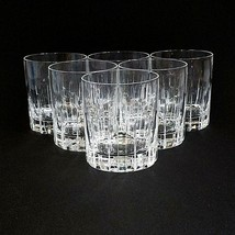6 (Six) ROYAL CRYSTAL ROCK-RCR TIMELESS Cut Crystal Double Old Fashioned... - $117.32