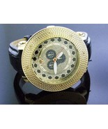Mens Techno Royale Jumbo 57mm Bezel w/ 8 Diamonds Watch Gold tone case - $79.19