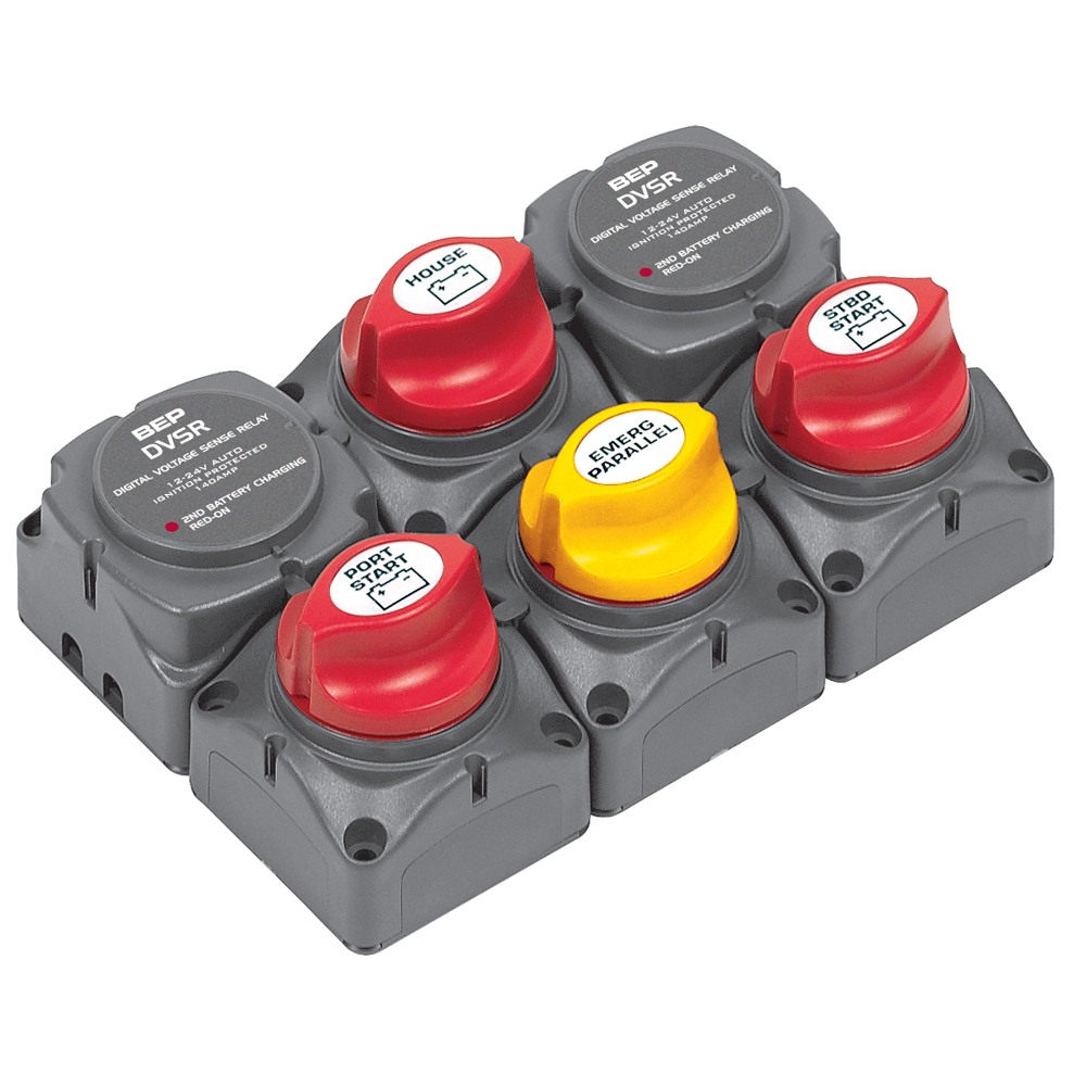 BEP Battery Distribution Cluster f/Twin Outboard Engines w/Three Battery Banks [ - $337.20