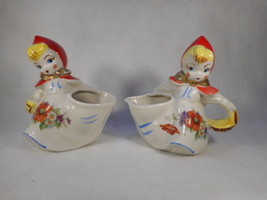 Vintage Hull Large Red Riding Hood Creamer and Open Sugar - $79.15