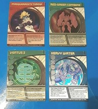 4 Bakugan 3-D cards- Ventus 2- Heavy Water- Red-Green Combine-Masquerade... - $9.75