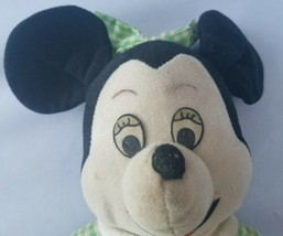 Vintage Knickerbocker Minnie Mouse Green Dress Mickey Mouse Club Doll To... - $13.76