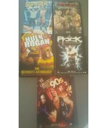 Lot of 5 WWE Wrestling DVD Sets Hogan The Rock Superstars TLC Summerslam - $19.75