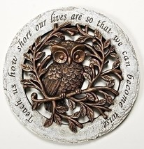 Wise Owl Bronze Tree Limbs 12 inch Resin Stone Decorative Stepping Stone - $16.36