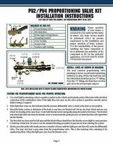 "Universal Master Cylinder 1-1/8"" Bore, Disc Disc Proportioning Valve Kit image 4"