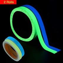 WIWAPLEX 2Pack Glow in The Dark Tape, Green Blue Luminous Tape Sticker 3... - $17.39
